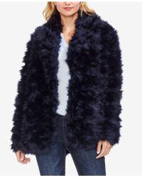 Vince Camuto - Shaggy Fur Coat - Lyst