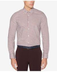 Perry Ellis - Check Performance Shirt - Lyst