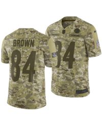 745413c8f Nike - Antonio Brown Pittsburgh Steelers Salute To Service Jersey 2018 -  Lyst