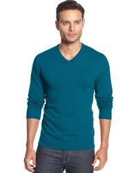 Alfani - Men's V-neck Sweater - Lyst
