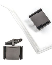 Kenneth Cole Reaction - Two-tone Cuff Links - Lyst