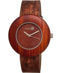 Earth Wood - Ligna Leather-band Watch Red 43mm - Lyst