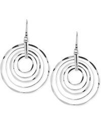 Robert Lee Morris - Silver-tone Hammered Ring Orbital Earrings - Lyst