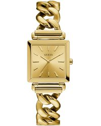 Guess - Square Analog Chain-link Bracelet Watch - Lyst