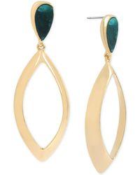 Robert Lee Morris - Gold-tone & Patina Drop Earrings - Lyst