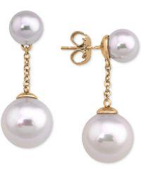Majorica | Gold-plated Imitation Pearl Drop Earrings | Lyst