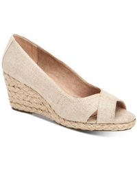 Charter Club Toniie Wedge Sandals, Created For Macy's - Natural