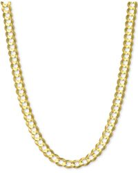 Macy's - Open Curb Link Chain Necklace In 14k Gold - Lyst
