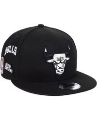 fba77ee17a5 Lyst - KTZ Chicago Bulls Faux Leather 9fifty Snapback Cap in Black ...