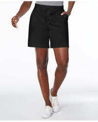Karen Scott - Petite Drawstring Knit Shorts, Created For Macy's - Lyst