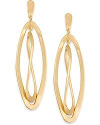 Macy's - Twisted Oval Orbital Drop Earrings In 14k Gold - Lyst