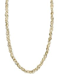 """Macy's - 14k Gold Necklace, 16"""" Link Chain Necklace - Lyst"""