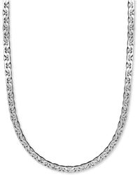 "Macy's - Men's Sterling Silver Necklace, 22"" 8mm Marina Chain - Lyst"