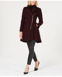Guess - Asymmetrical Skirted Walker Coat - Lyst