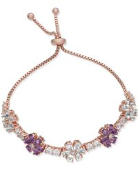 Joan Boyce - Clear & Colored Crystal Flower Slider Bracelet - Lyst