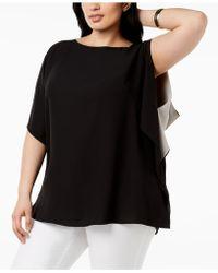 Anne Klein - Plus Size Ruffled-sleeve Top - Lyst