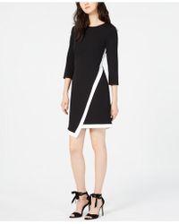 Vince Camuto - Asymmetrical Sheath Dress - Lyst