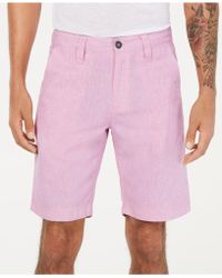 """INC International Concepts - Linen Blend 10"""" Shorts, Created For Macy's - Lyst"""