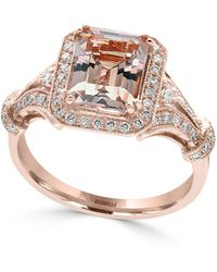 Effy Collection - Morganite (2-1/5 Ct. T.w.) And Diamond (1/3 Ct. T.w.) Ring In 14k Rose Gold - Lyst