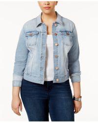 Celebrity Pink - Trendy Plus Size Denim Jacket - Lyst