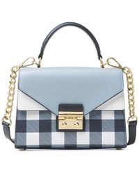 Michael Kors - Michael Sloan Gingham Small Top-handle Satchel, A Macy's Exclusive Style - Lyst