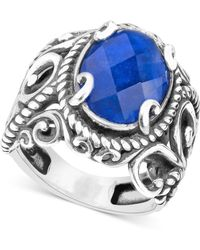 Carolyn Pollack - Lapis Lazuli Doublet Ring (5-3/4 Ct. T.w.) In Sterling Silver - Lyst