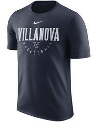 c5d376f1 Lyst - Nike Villanova Wildcats Basketball University T-shirt in Blue ...