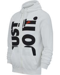 084f3c29 Nike Dry Fleece Just Do It Hoodie in Black for Men - Lyst