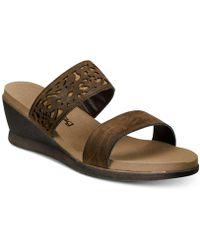 BEARPAW - Noelle Wedge Sandals - Lyst