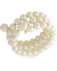 Carolee - Gold-tone Imitation Pearl Multi-row Bracelet - Lyst