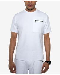 Sean John - White Party Ottoman-knit Pocket T-shirt, Created For Macy's - Lyst