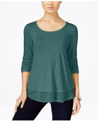 Style & Co. - Chiffon-hem Top, Created For Macy's - Lyst
