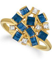 Le Vian - ® Baguette Frenzytm Blueberry Sapphirestm (1 1/5 Cttw) And Nude Diamondstm (1/8 Cttw) Ring Set In 14k Gold - Lyst