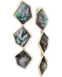 Robert Lee Morris - Gold-tone Abalone-look Triple Drop Earrings - Lyst