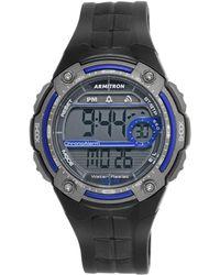 Armitron - Men's Digital Black Resin Strap Watch 45mm 40-8189blu - Lyst