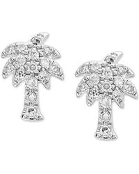 Effy Collection - Effy Kidz® Diamond Palm Tree Stud Earrings (1/10 Ct. T.w.) In 14k White Gold - Lyst