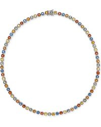 Macy's - Colored Sapphire All-around Collar Necklace (25 Ct. T.w.) In Sterling Silver - Lyst