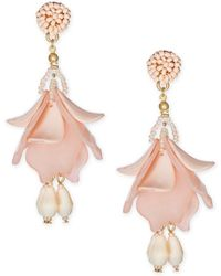INC International Concepts - Gold-tone Resin Petal Shaky Drop Earrings, Created For Macy's - Lyst