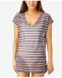 Anne Cole - Friendship Bracelet Printed Mesh Cover-up - Lyst