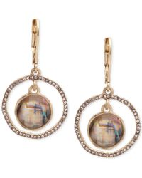 Lonna & Lilly - Abalone & Pavé Orbital Drop Earrings - Lyst