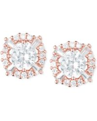 Anne Klein | Elevated Crystal Round Stud Earrings | Lyst