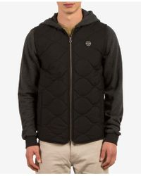 Volcom | Men's Buster Colorblocked Quilted Puffer Jacket | Lyst