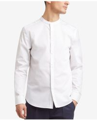Kenneth Cole Reaction - Band-collar Shirt - Lyst