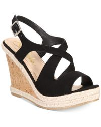 Callisto - Brielle Platform Wedge Sandals - Lyst