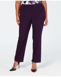 Nine West - Plus Size Stretch Trouser Pants - Lyst
