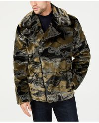 INC International Concepts - Camo-print Faux-fur Coat, Created For Macy's - Lyst