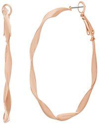 Catherine Malandrino - Polished Twisted Rose Gold-tone Hoop Earrings - Lyst