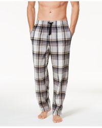 Perry Ellis - Men's Plaid Fleece Pajama Pants - Lyst