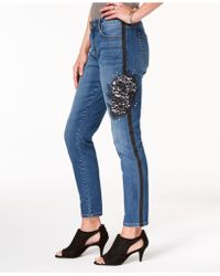 Style & Co. - Lace-detail Studded Jeans, Created For Macy's - Lyst
