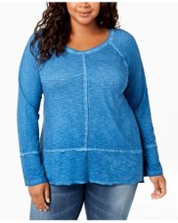 Style & Co. - Plus Size Washed High-low Hem Top, Created For Macy's - Lyst